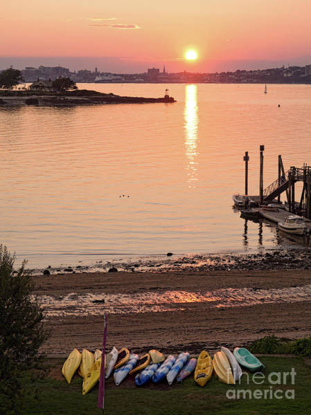 Photograph - Sunset, Portland, Maine  -07817 by John Bald