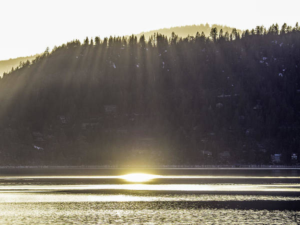Photograph - Sunset Rays, Lake Tahoe by Martin Gollery