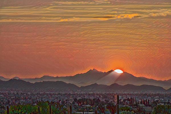 Photograph - Sunset Rays Remix by Dan McManus