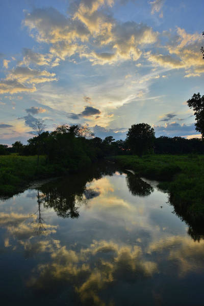 Photograph - Sunset Reflected In Nippersink Creek by Ray Mathis