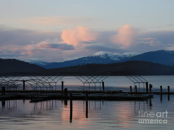Priest Lake Photograph - Sunset Reflecting Off Priest Lake by Carol Groenen