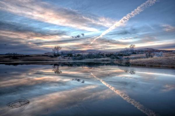 Photograph - Sunset Reflection by Fiskr Larsen