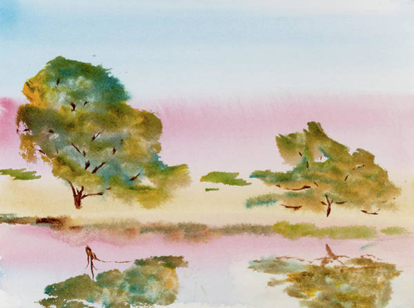 Painting - Reflections At Sunrise by Dorothy Darden