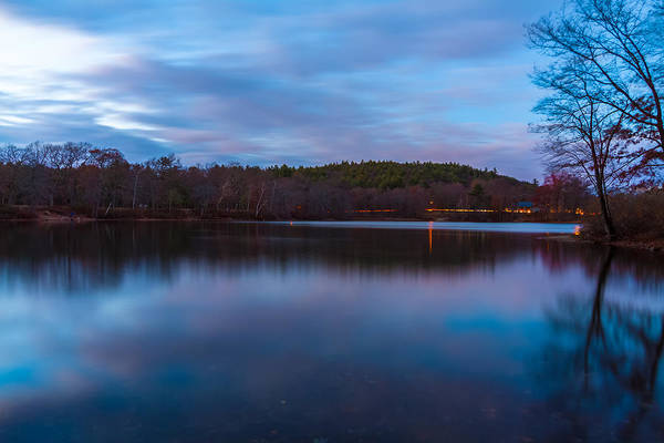 Photograph - Sunset Reflections At Houghtons Pond by Brian MacLean