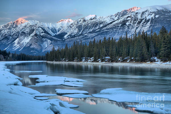 Photograph - Sunset Reflections In The Athabasca by Adam Jewell