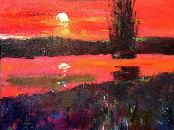 Port Townsend Painting - Sunset River by James Murphy