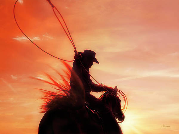 Photograph - Sunset Roper by Amanda Smith