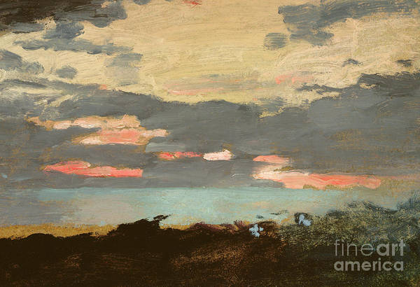 Daylight Painting - Sunset, Saco Bay by Winslow Homer
