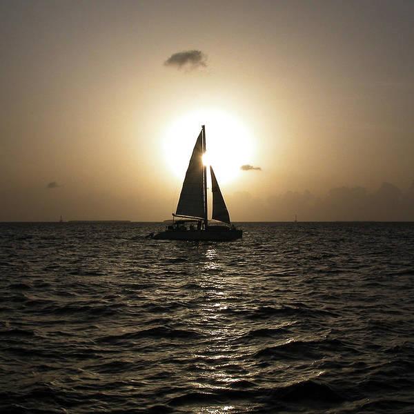 Sunset Sail - Key West Art Print