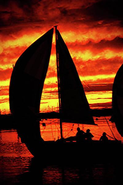Photograph - Sunset Sail by Frank Vargo