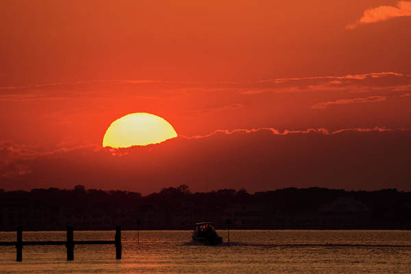 Photograph - Sunset Sail October 2016 Lavallette Nj by Terry DeLuco