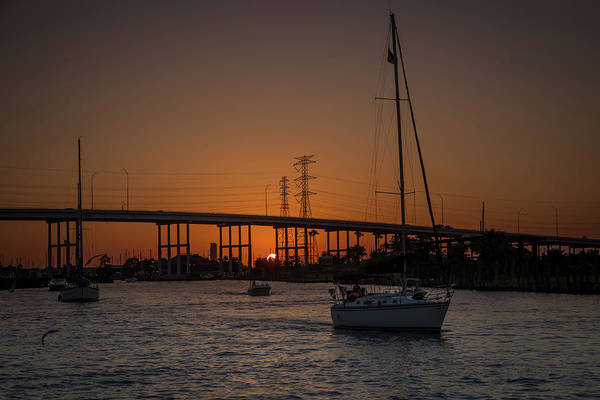 Wall Art - Photograph - Sunset Sail by Tom Weisbrook