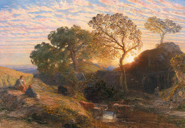 Painting - Sunset by Samuel Palmer