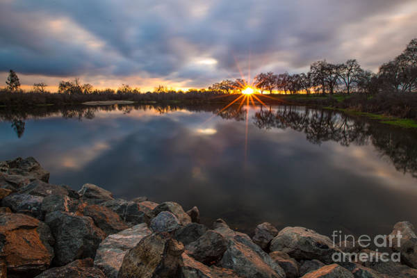 Photograph - Sunset San Joaquin River by Anthony Bonafede