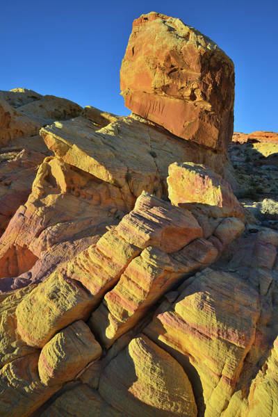 Photograph - Sunset Sandstone In Valley Of Fire State Park by Ray Mathis