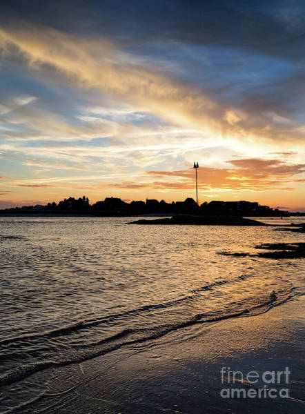 Photograph - Sunset, Scarborough River, Scarborough, Maine -30309 by John Bald