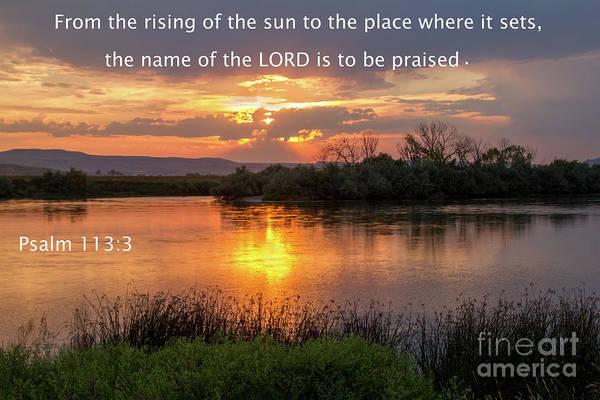 Psalms Photograph - Sunset Scripture by Robert Bales