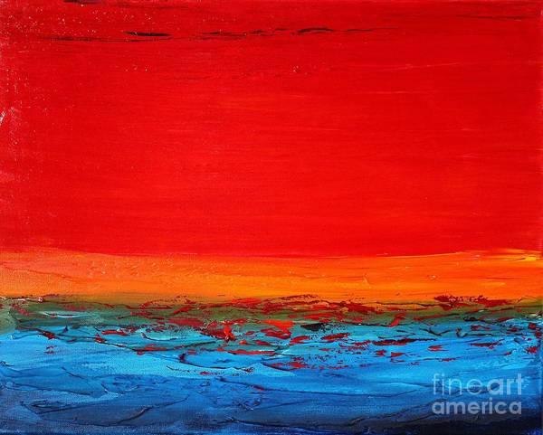 Painting - Sunset Sea 1 by Preethi Mathialagan