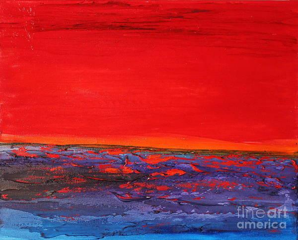 Painting - Sunset Sea 2 by Preethi Mathialagan