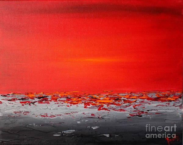 Painting - Sunset Sea 4 by Preethi Mathialagan