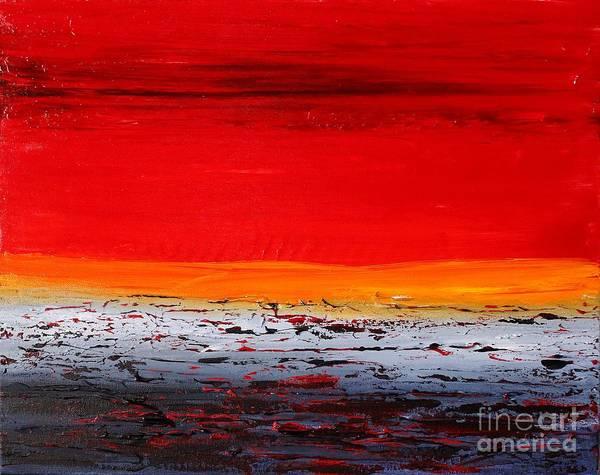 Painting - Sunset Sea 6 by Preethi Mathialagan