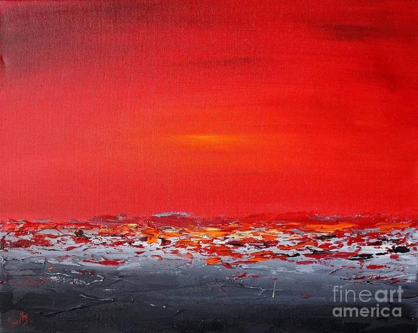 Painting - Sunset Sea 7 by Preethi Mathialagan