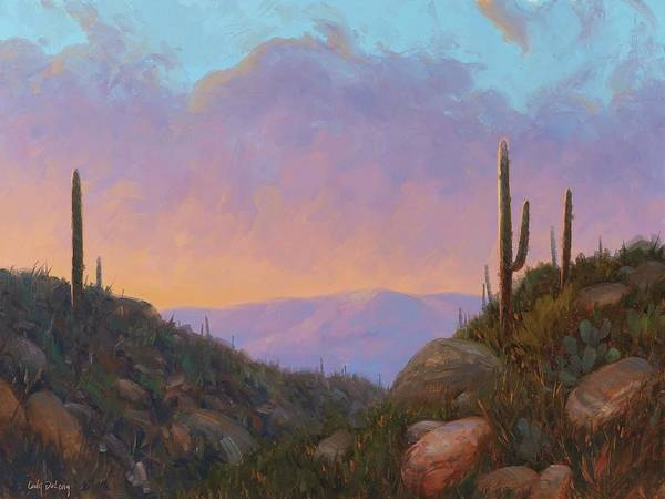 Wall Art - Painting - Sunset Sentinels 2 by Cody DeLong