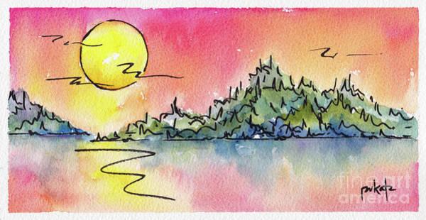 Painting - Sunset Serenade by Pat Katz
