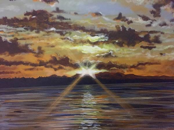 Painting - Sunset Shimmer by Joel Tesch