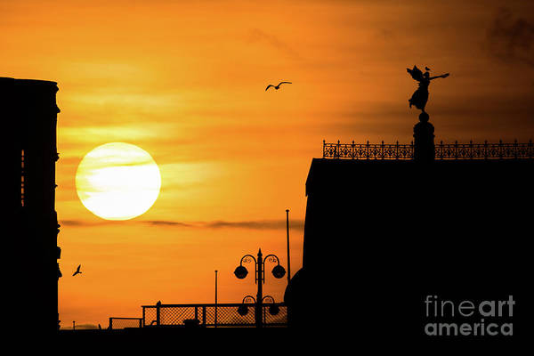Photograph - Sunset Silhouettes In Aberystwyth by Keith Morris