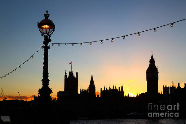 Photograph - Sunset Silhouettes In London by James Brunker