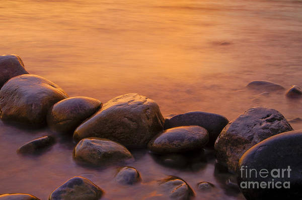 Lake Shore Wall Art - Photograph - Sunset by Silke Magino