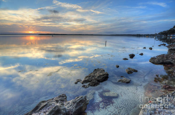 Wall Art - Photograph - Sunset Skies And Reflections At Wrights Beach St Georges Basin  by Leah-Anne Thompson