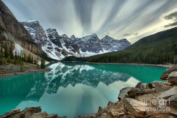 Photograph - Sunset Skies Over Moraine Lake by Adam Jewell