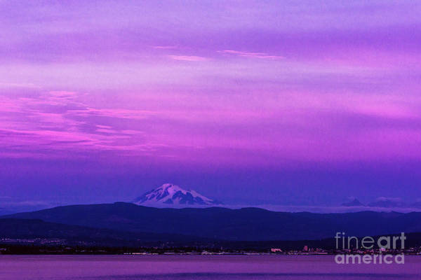 Boundary County Photograph - Sunset Skies Over Mount Baker And Bellingham Bay by Paul Conrad