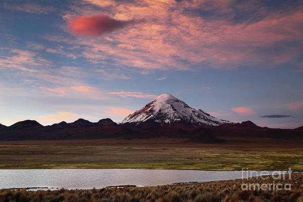 Photograph - Sunset Skies Over Sajama Volcano Bolivia by James Brunker