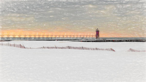 Photograph - Sunset Snow Storm by Susan Rissi Tregoning