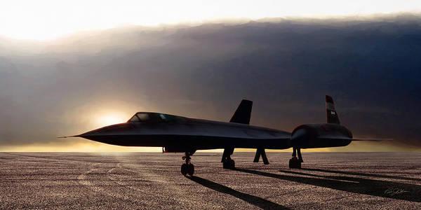 Supersonic Speed Wall Art - Digital Art - Sunset Sr-71 by Peter Chilelli