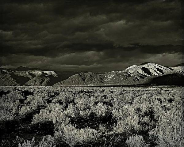 Photograph - Sunset Storm - B-w by Charles Muhle