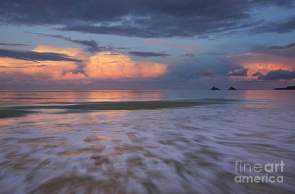 Photograph - Sunset Storm Clouds Over Kailua Beach by Charmian Vistaunet