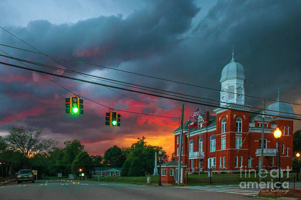 Photograph - Sunset Storm Taliaferro County Court House by Reid Callaway
