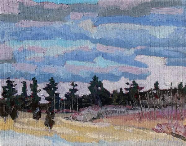 Stratocumulus Painting - Sunset Stratocumulus Singleton by Phil Chadwick