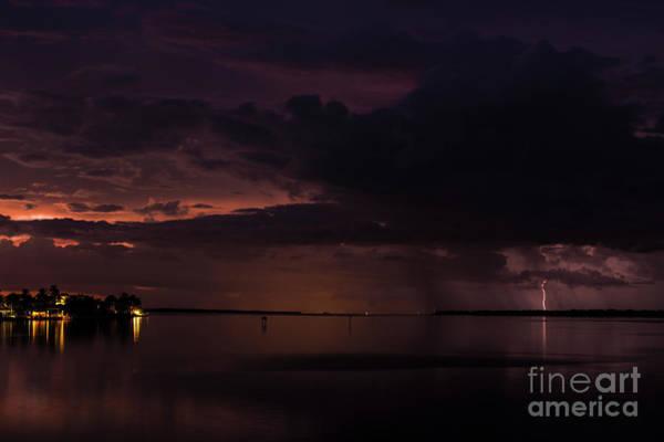 Lightning Strike Photograph - Sunset Strike by Quinn Sedam