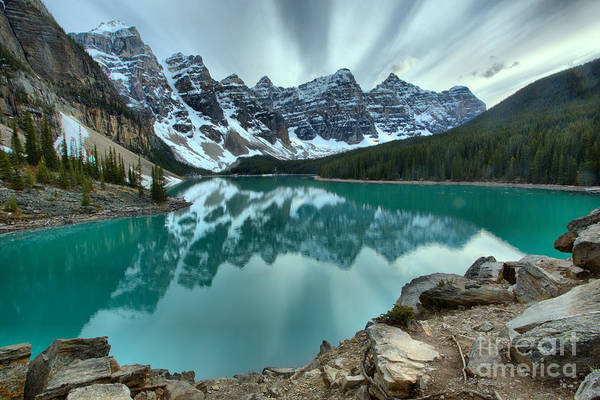 Photograph - Sunset Stripes Over Moraine Lake by Adam Jewell