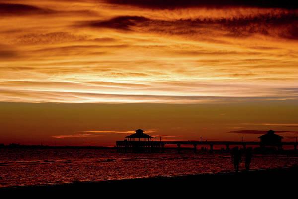 Photograph - Sunset Stroll Along The Beach 2582 H_2 by Steven Ward