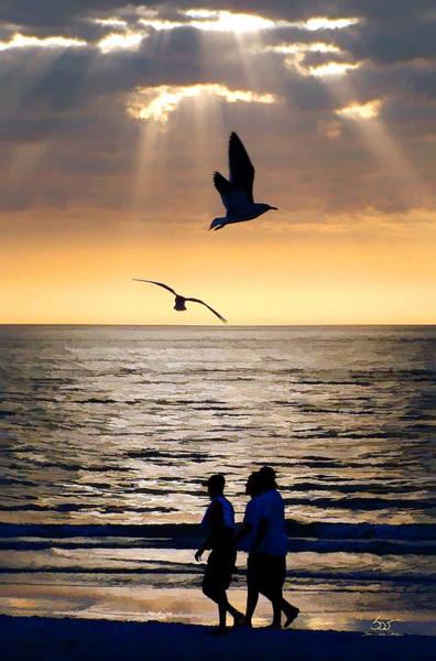 Photograph - Sunset Stroll by Sam Davis Johnson