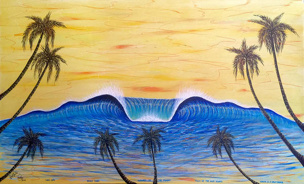 Painting - Sunset Surf Dream by Paul Carter