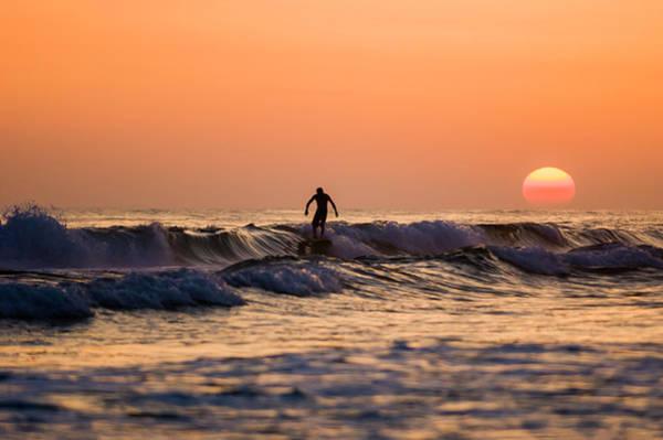 Photograph - Sunset Surfer by Kurt Lischka