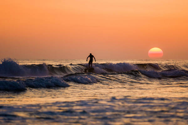Sunset Surfer Art Print