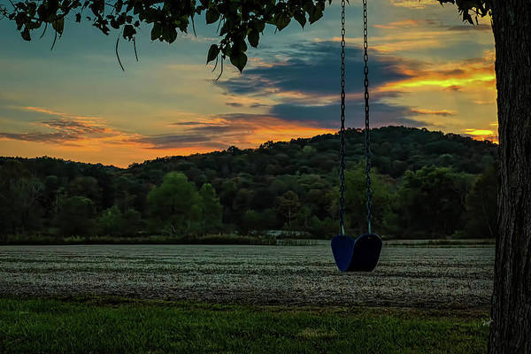 Hillside Wall Art - Photograph - Sunset Swing by Elijah Knight